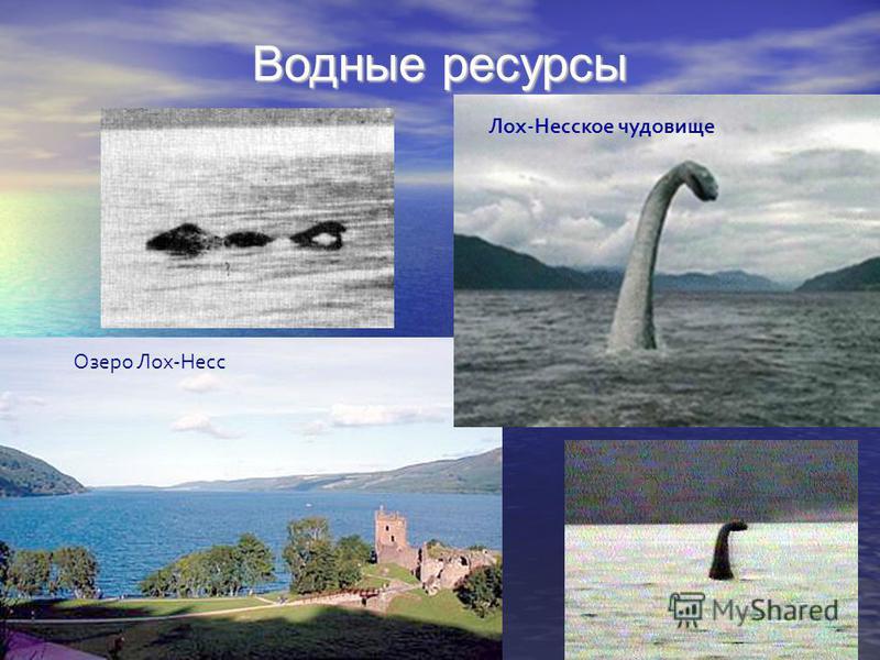Водные ресурсы Озеро Лох-Несс Лох-Несское чудовище