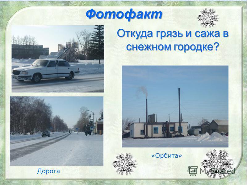 Фотофакт Откуда грязь и сажа в снежном городке? «Орбита» Дорога