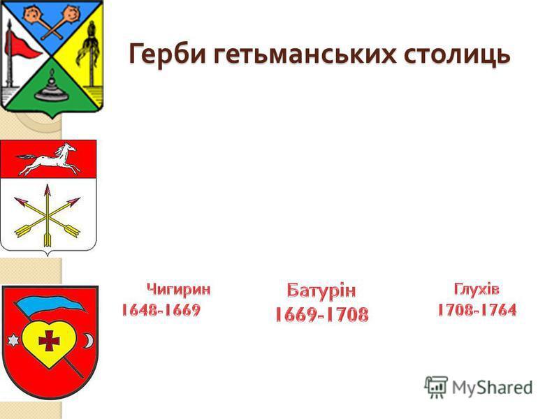 Герби гетьманських столиць