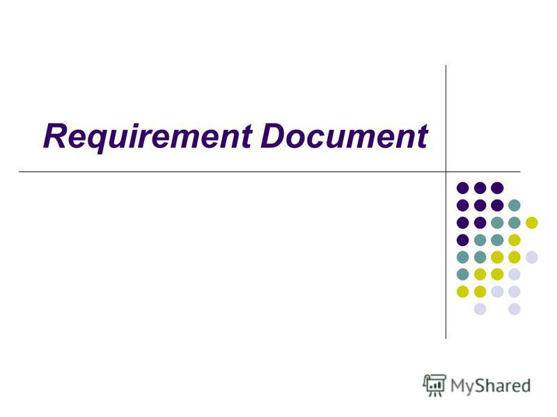 Requirement Document