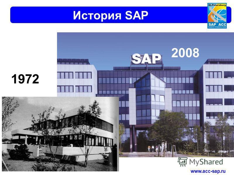 www.acc-sap.ru История SAP 2008 1972