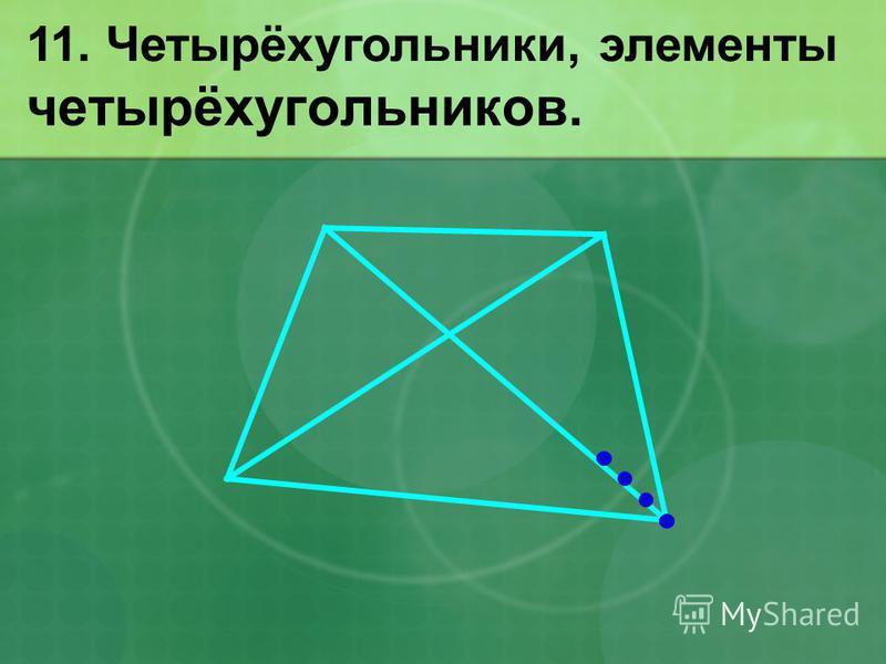 четырёхугольников. 11. Четырёхугольники, элементы