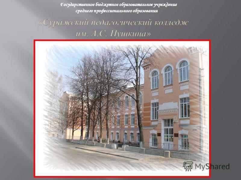Государственное бюджетное образовательное учреждение среднего профессионального образования