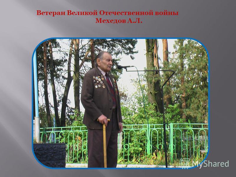 Ветеран Великой Отечественной войны Мехедов А.Л.