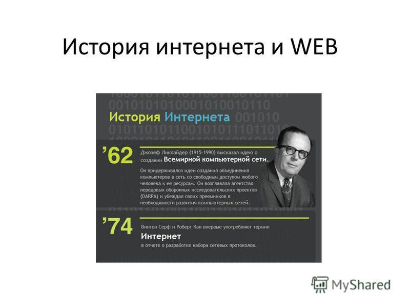 История интернета и WEB