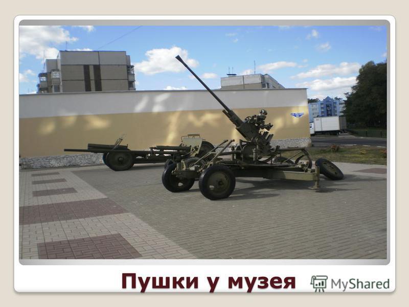 Пушки у музея