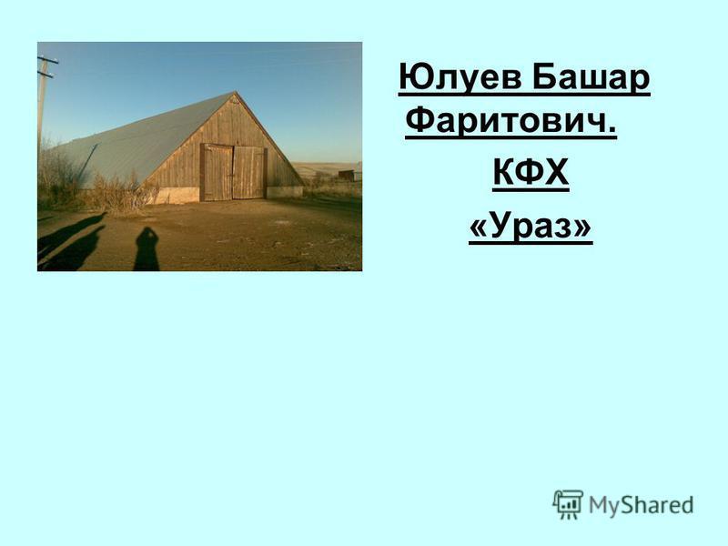 Юлуев Башар Фаритович. КФХ «Ураз»