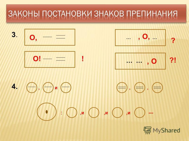,,,и :--- и, 4. О, ?, О, … … 3.3. О!! ?!, О …
