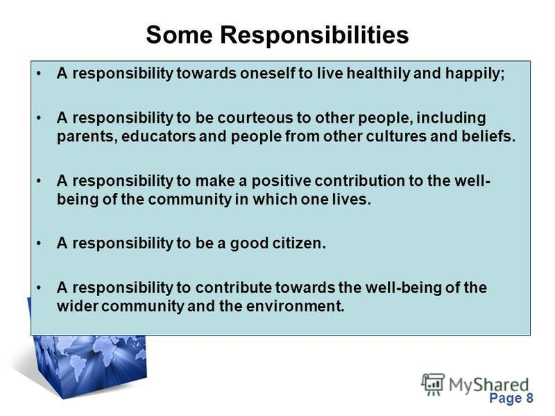 essay on being responsible parent Responsibility essays being responsible refers to our ability to make decisions that serve our own interests and the interests of others we first need to be responsible for ourselves before we can be responsible for others.