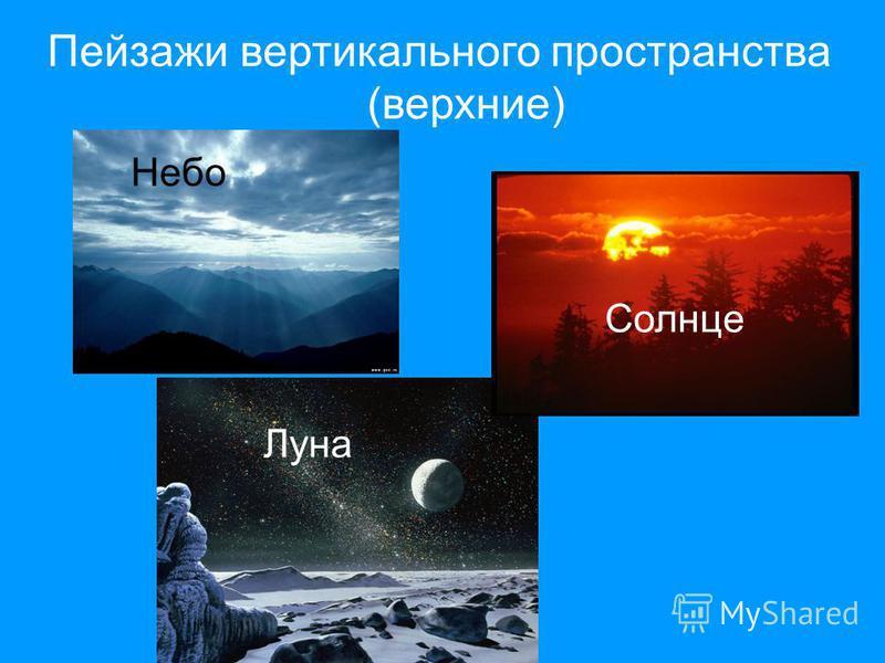 Пейзажи вертикального пространства (верхние) Небо Луна Солнце
