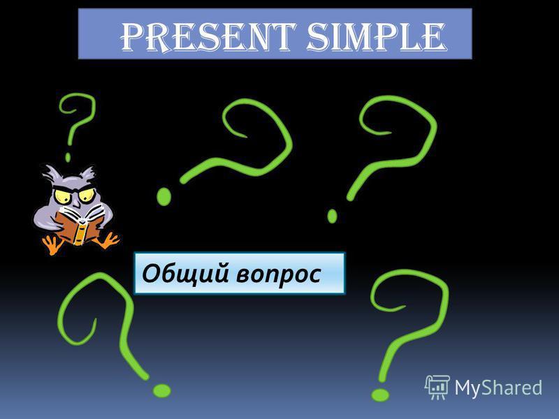 Present Simple Общий вопрос