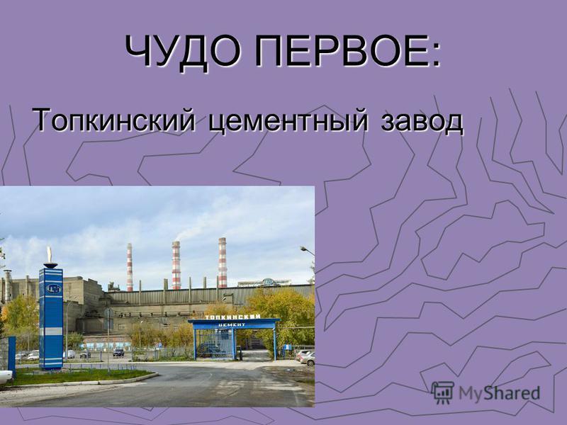 ЧУДО ПЕРВОЕ: Топкинский цементный завод Топкинский цементный завод