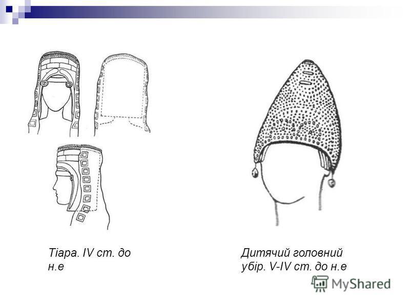 Тіара. IV ст. до н.е Дитячий головний убір. V-IV ст. до н.е