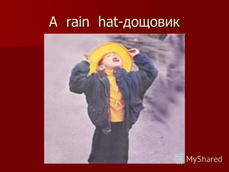 A rain hat-дощовик