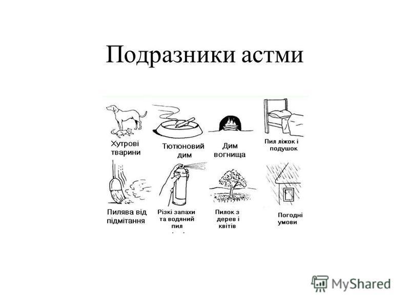 Подразники астми