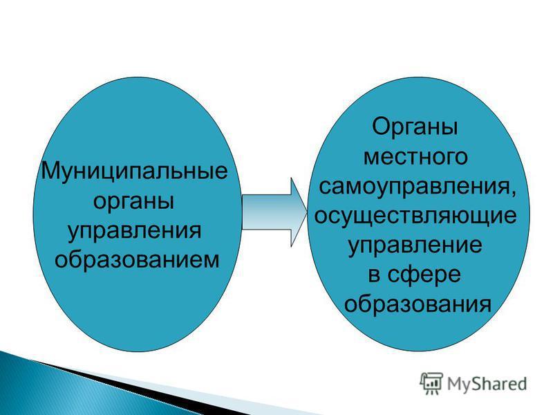 Муниципальные органы управления образованием Органы местного самоуправления, осуществляющие управление в сфере образования