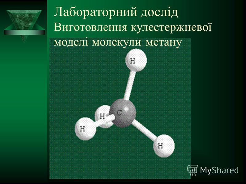 Лабораторний дослід Виготовлення кулестержневої моделі молекули метану