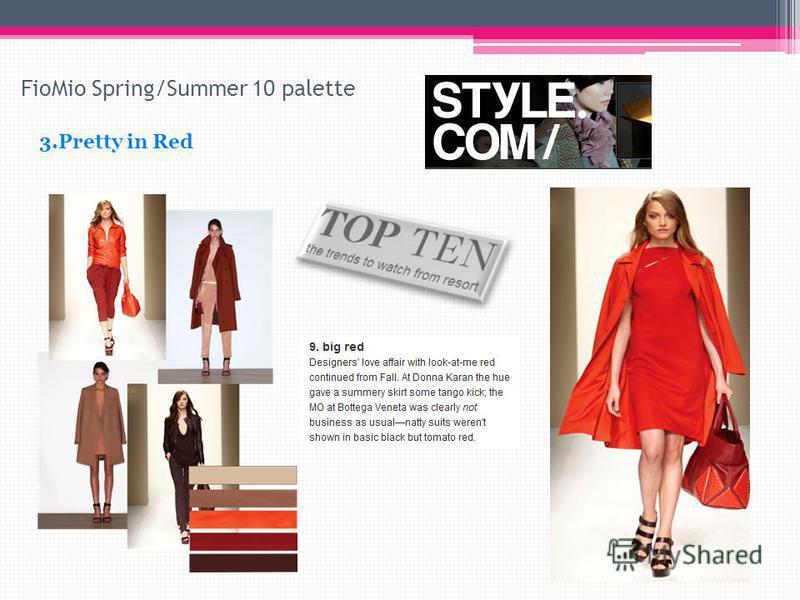 FioMio Spring/Summer 10 palette 3.Pretty in Red