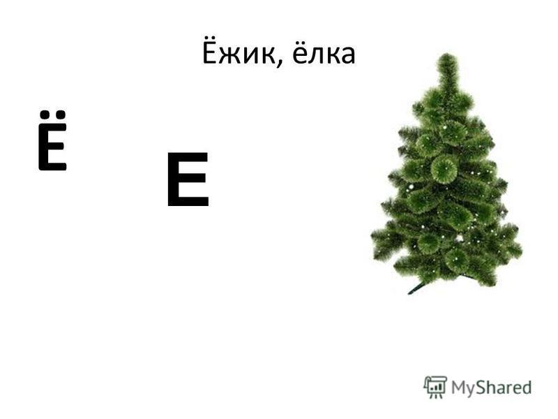 Ёжик, ёлка Ё Е