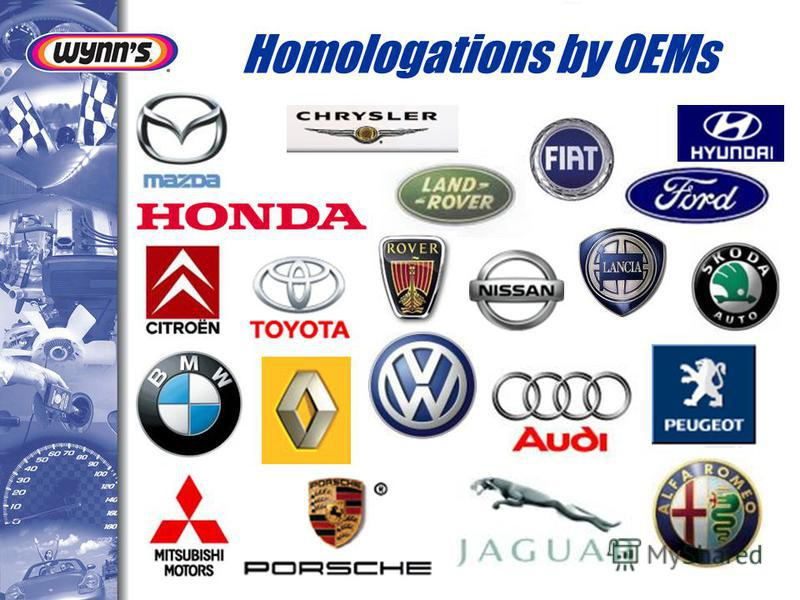Homologations by OEMs