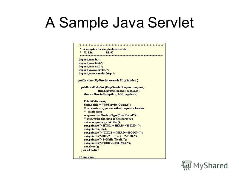 A Sample Java Servlet