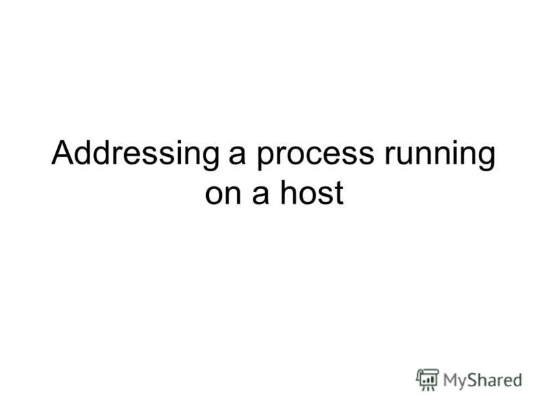Addressing a process running on a host