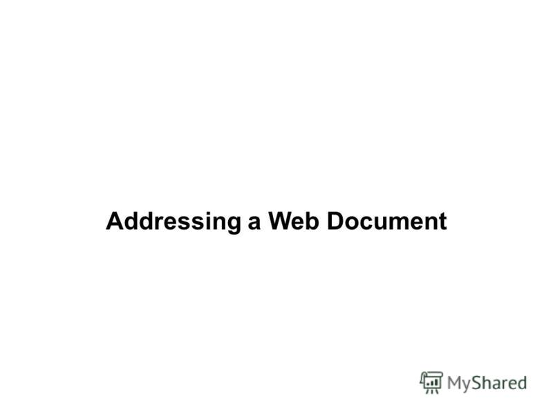 Addressing a Web Document