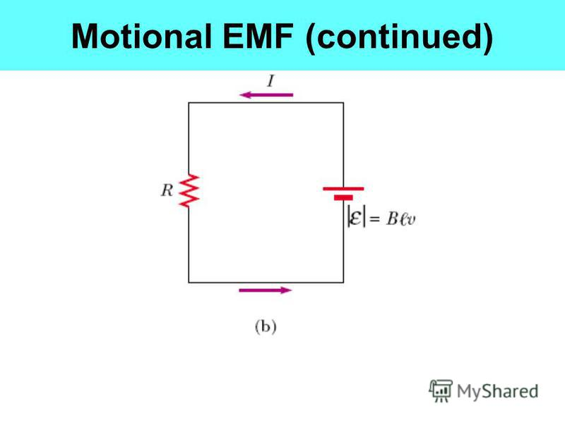Motional EMF (continued)