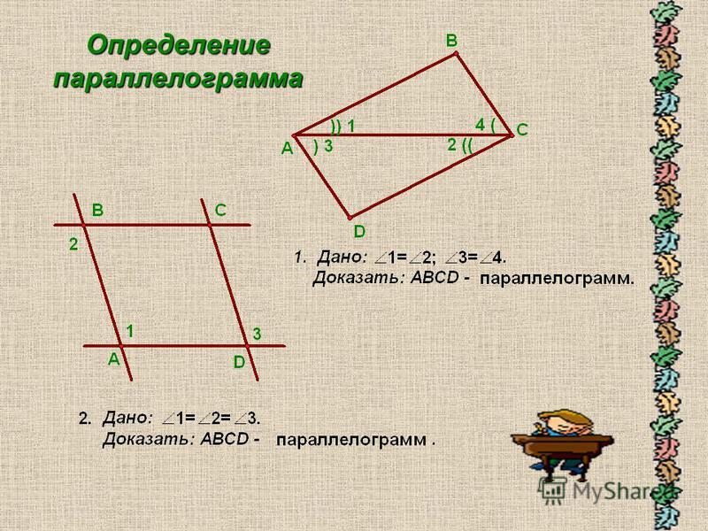 Определение параллелограмма