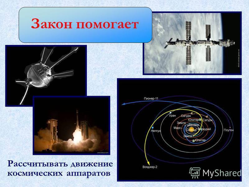 Закон помогает Рассчитывать движение космических аппаратов