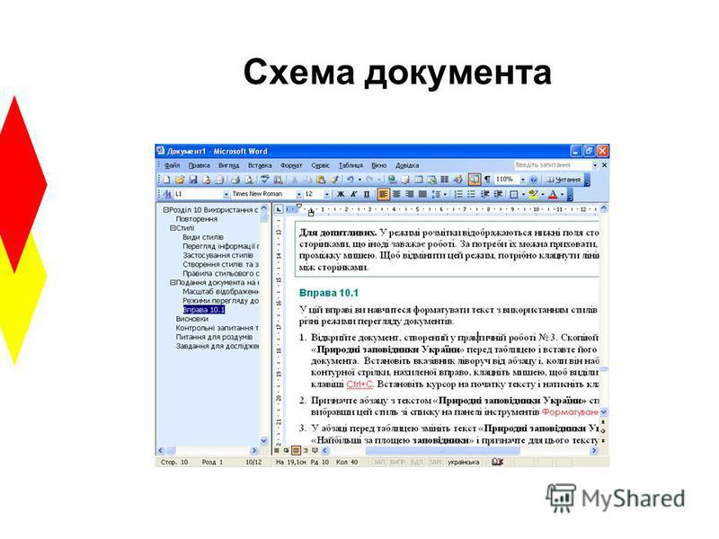 Схема документа