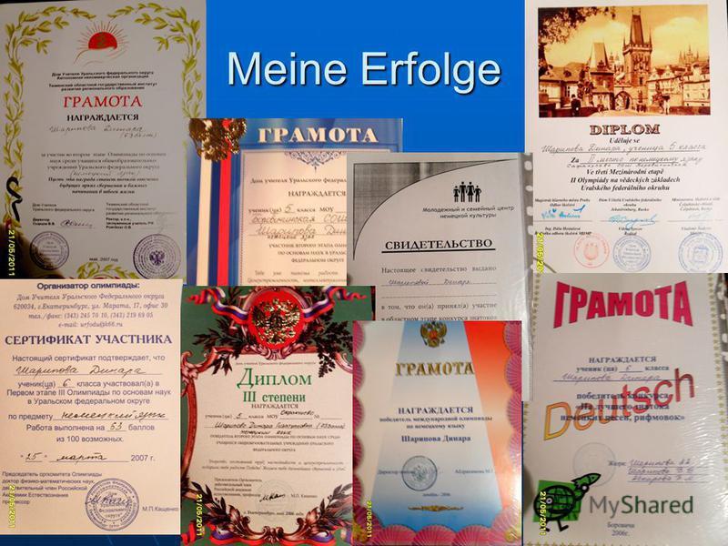 Meine Erfolge