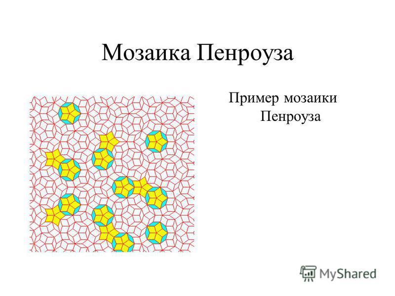Мозаика Пенроуза Пример мозаики Пенроуза
