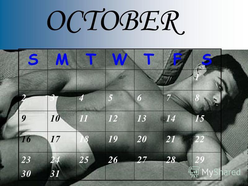 OCTOBER SMTWTFS 1 2345678 9101112131415 16171819202122 23 30 24 31 2526272829