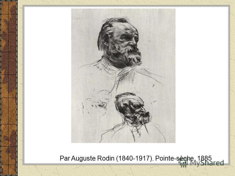 Par Auguste Rodin (1840-1917). Pointe-sèche. 1885