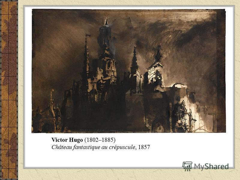 Victor Hugo (1802–1885) Château fantastique au crépuscule, 1857