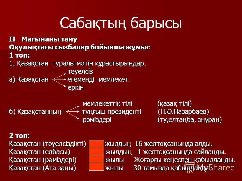 Сабақтың барысы I. Балалардың қызығушылығын ояту. « Астана – жас қала» сахат-эссе шығарма. Ақмола облысы Республикамыздың орталық бөлігінде орналасқан. Ол 1937 жылы Ақмола жерінің аумағы 121,7 шаршы километр. Ірі өзені – Есіл. Көптеген көлдері бар, о