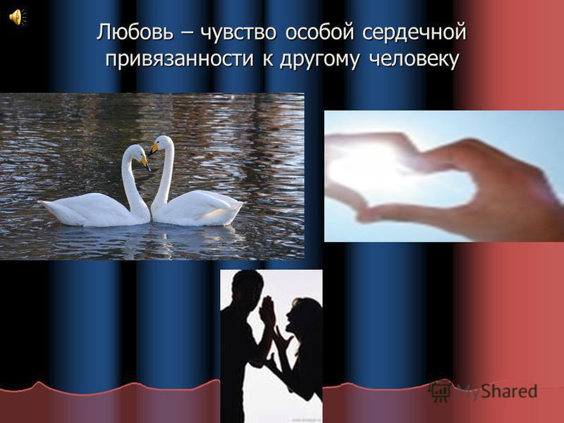 Любовь – чувство особой сердечной привязанности к другому человеку