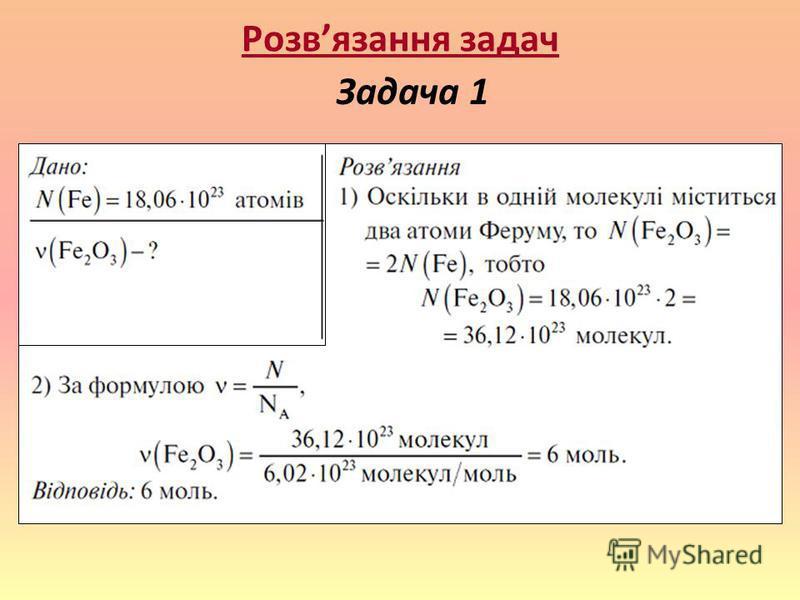 Розвязання задач Задача 1