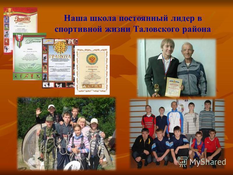 Наша школа постоянный лидер в спортивной жизни Таловского района