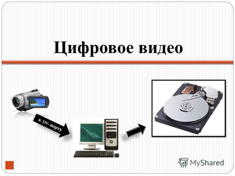 к DV- порту Цифровое видео