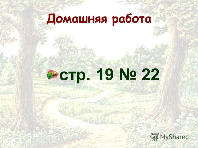 Домашняя работа стр. 19 22