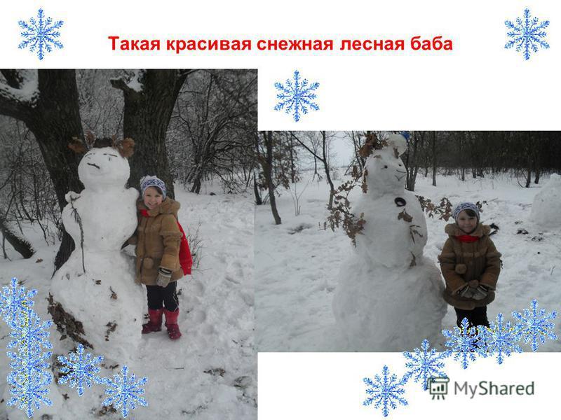Такая красивая снежная лесная баба