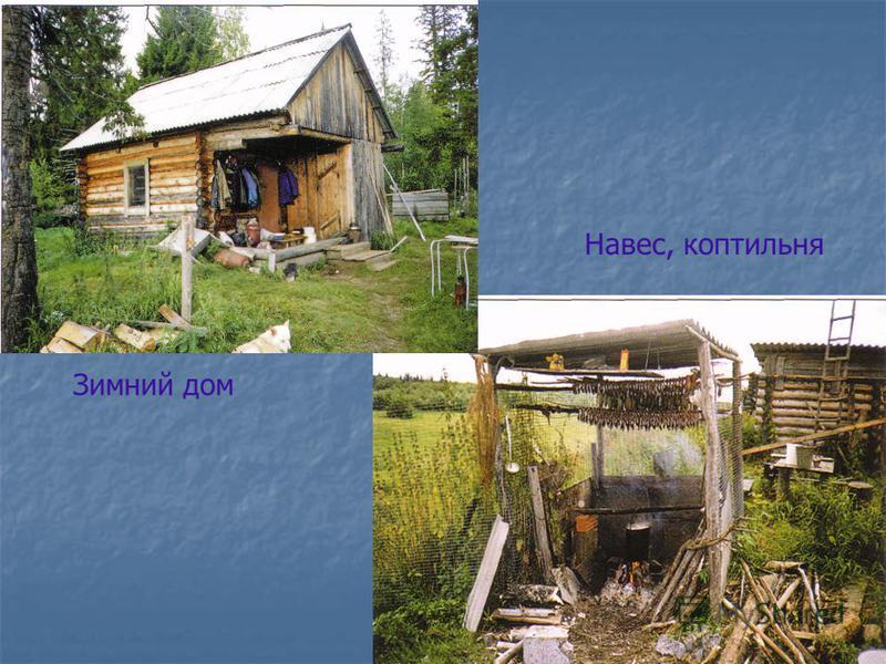 Зимний дом Навес, коптильня