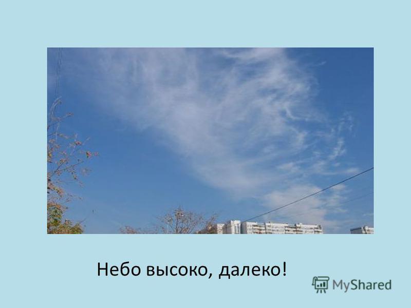Небо высоко, далеко!