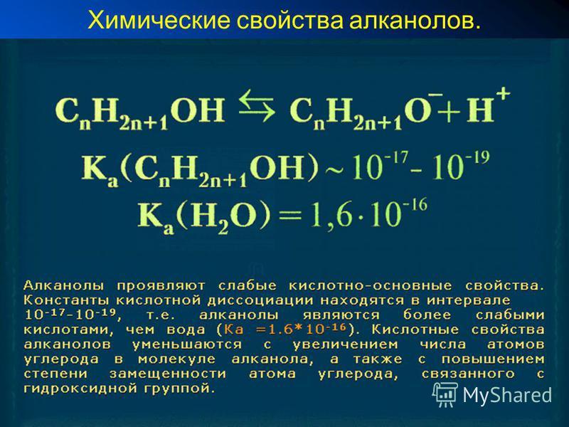 Химические свойства алканов.