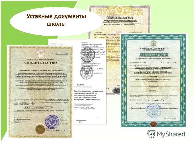 Уставные документы школы
