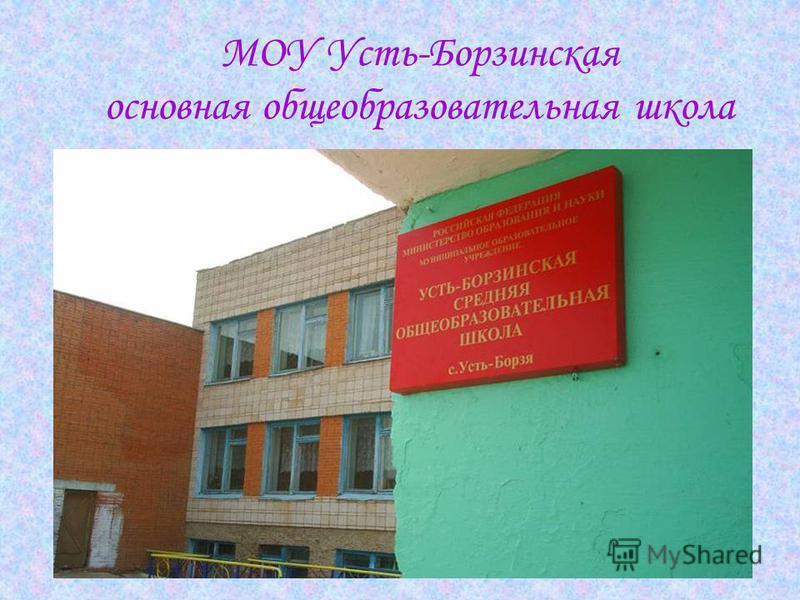 МОУ Усть-Борзинская основная общеобразовательная школа