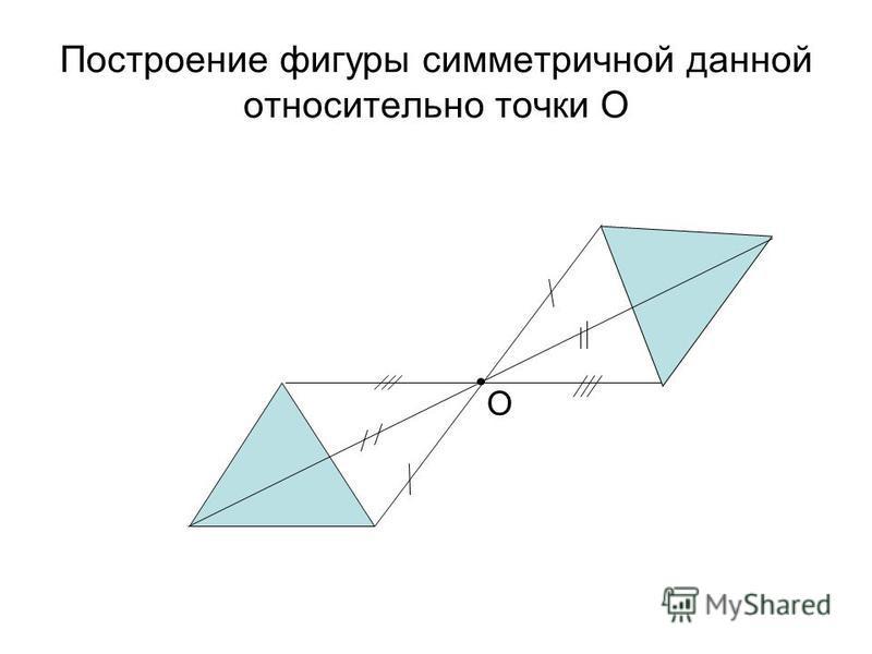 Построение фигуры симметричной данной относительно точки О О