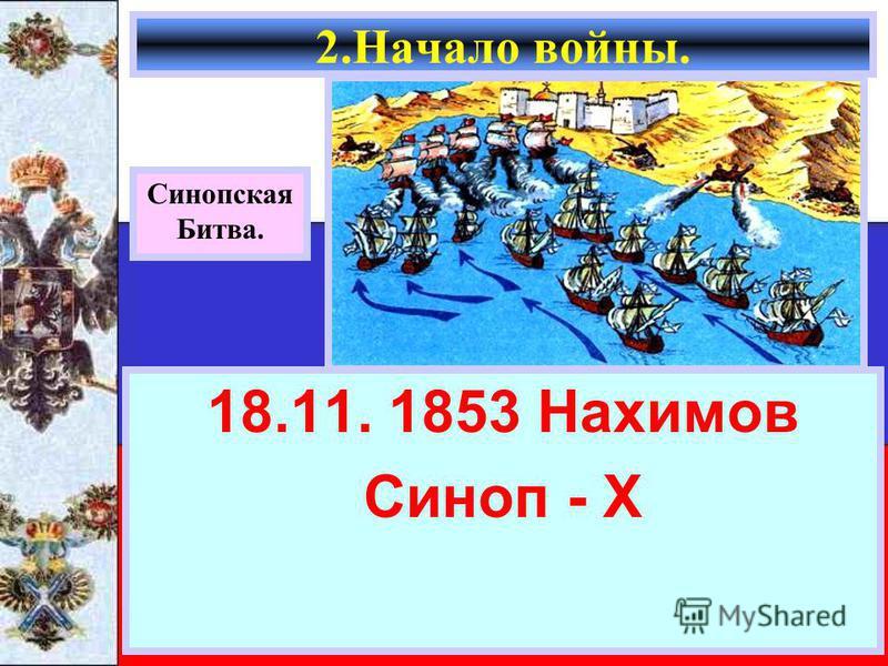 18.11. 1853 Нахимов Синоп - Х 2. Начало войны. Синопская Битва.